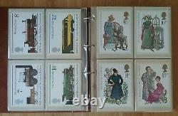 10 x ROYAL MAIL PHQ POSTCARD ALBUM'S INCLUDES SETS 1-344 COMPLETE UNUSED 1973-11