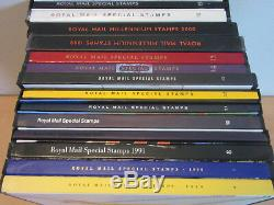 14pc Royal Mail Special Stamps book Lot 1989 2002 #6-19