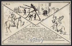 1840 Hume Comic No 2 Balloon Mail Mulready Caricature State 4 Fine Unused RARE