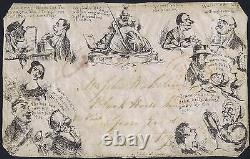 1840 Spooner No 5 By Post Mulready Caricature Used Front Birmingham to Coventry