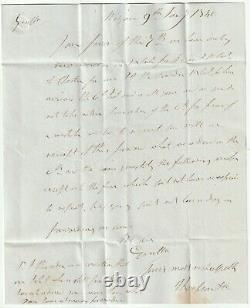 1840 WIGAN 9th JAN LAST DAY 4d POST LETTER ARRIVED 10th JAN 1st DAY UNIFORM Py P