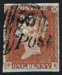 1841 1d Red Pl 46 PK 4m Very Fine Used POULTON PENNY POST Cat. £320.00