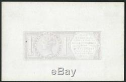 1881 1s Inland Parcel Post, v fine die proof of unissued design