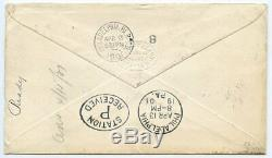 1901 2d+2½d cvr to USA tied K48 London & Holyhead T. P. O. United States Mail