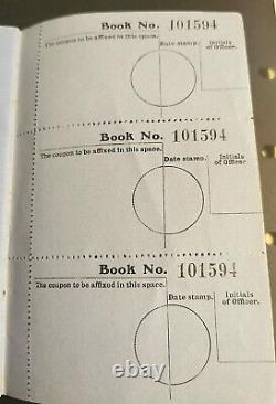 1911 Gv Post Office Savings Book Complete With 5 Stamps Attached Sg Posb1