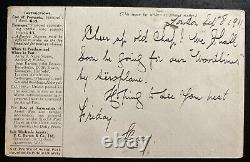 1911 London England First Aerial Post King George V Coronation PC Cover To Westm