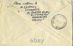 1938 First England-Australia-Norfolk Island Al Up Air Mail at 1 1/2d V. RARE