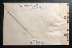1945 Azores Royal Air Force Field Post OAS Censored Cover To New Ross Ireland