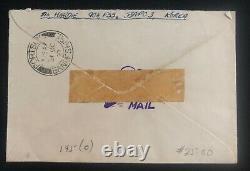1953 British Field Post Korean War Airmail Cover To Cullen Scotland Hubba Cachet