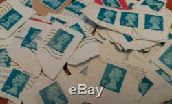 1.950 KG 2nd class BLUE'security' stamps FRANKED on paper KILOWARE FREE POST