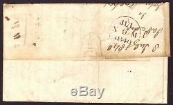 1d Black Plate (1b) (BF) 1840 Libberton to Edinburgh Libberton Penny Post