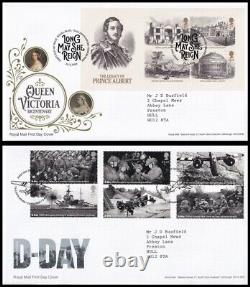 2019 GB Collection of 18 Typed Address Royal Mail FDC's All Tallents House