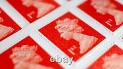 300New Ist First Class Stamps Royal Mail Ist First Class Self Adhesive Stamps