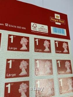 500 1st Class Red Large Letter Royal Mail Stamps Self Adhesive Peel & Stick New