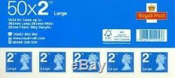 500 ROYAL MAIL 2ND SECOND CLASS LARGE LETTER STAMPS FACE VALUE £440 Lot 5