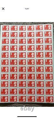 500 X 1st Class Large Letter Unfranked Royal Mail Stamps Self Adhesive