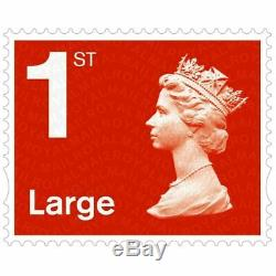 50 x 1st class Royal mail large letter stamps First class UK postage brand new