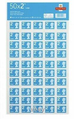 50x4 (200) 2nd Class Larger Letter Royal Mail