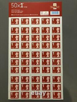 50x4 (200) Royal Mail 1st Class Large Letter Stamps First Class BRAND NEW