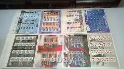 70 x Assorted Smilers Sheets Collection + 2 Royal Mail Smilers Albums
