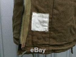 British 1960's Jacket Cold War Jacket Vtg Blanket Lined Combat Post WW2 Jacket
