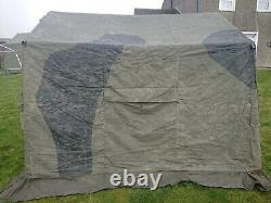 British Army Surplus 9x9 Command Post Canvas Tent, camouflage, painted, good