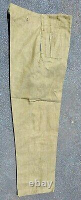 British Post Wwii Olive Drab Cotton Drill Army Trousers