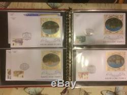 Collection Of 821 Benham Silk First Day Covers And 304 Royal Mail In 20 Albums