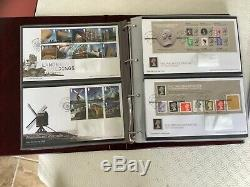 Collection of 325 GB FIRST DAY COVERS in 5 Royal Mail Folders 2006 to 2019 incl