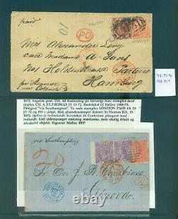 Danish West Indies 1865-79 BRITISH POST OFFICE C51&others specialized coll. Rare