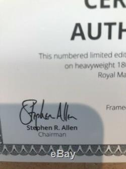 David bowie Aladdin Sane royal mail framed
