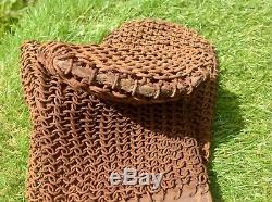 Extremely Rare Ww1 Tank Operators Anti Splinter Chain Mail Mittens / Gauntlets