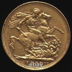 Full Gold Sovereign 1895 Queen Victoria Royal Mail 1st Class SpecialDelivery