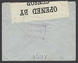 GB 1918 WWI Thomas Cook Undercover Forwarded Mail, with Perfins