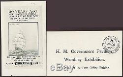 GB 1925 Wembley Exhibition Ppc Post Office Govt. Pavilion + Lion Handstamp 31 Oct