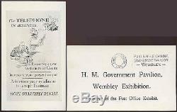 GB 1925 Wembley Exhibition Ppc Post Office Govt. Pavilion + Slogan Cancel Machine