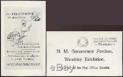 GB 1925 Wembley Exhibition Ppc Post Office Govt. Pavilion + Slogan Cancel Machine