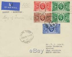 GB 1935 25th anniversary of King George V cpl. On superb Air Mail FDC EXPERTIZED