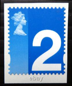 GB 2002 2nd Class Stamp for the Blind Royal Mail Self Adhesive Trial DM141