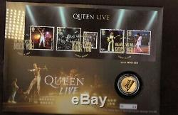 GB 2020 Royal Mail Queen Gold Proof Coin Cover Limited Edition No 60 of only 75