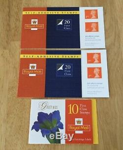 GB 604 x MNH 1st class stamps. Booklets-Post & go-Fruit + Veg Packs. Face £422.80