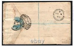 GB AUSTRALIA MAIL TruroCornwall Registered Stationery 1s Green Cover 1880 266f