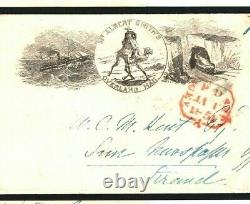 GB Advert Cover ALBERT SMITH Letter India OVERLAND MAIL 1854 London V. RARE A4G4