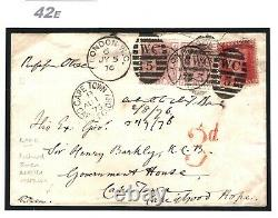 GB Cover BRITISH MUSEUM MAIL Signed RICHARD OWEN Autograph 1876 MICROSCOPE 42e
