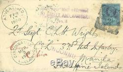 GB Cover PHILIPPINES WAR 1900 Military Mail USA SOLDIER 3rd Infantry RARE 324e