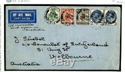 GB FDC 1929 PUC Low Values FIRST DAY COVER Air France Mail Australia K126c