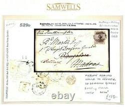 GB INDIA MAIL MUTINY PERIOD Cover 1858 Brightwalton Berks Dragoon Guards 529d