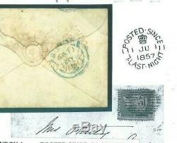 GB LATE MAIL POSTMARK RARITY Cover 1856 London PS7LN CDS Red samwellsL91a