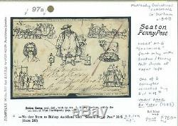 GB MULREADY CARICATURE FORES No6 COACHING Durham Seaton Penny Post c1840 97b