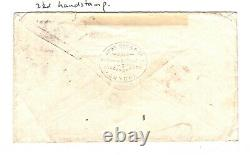 GB NORWAY MAIL SG. 122 Cover 6d LOVELY COLOUR Yarmouth Duplex 1872 Norfolk ZA216